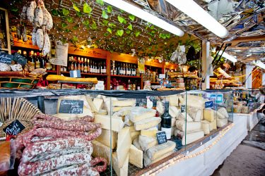selection of meats and cheeses at Chicago French Market