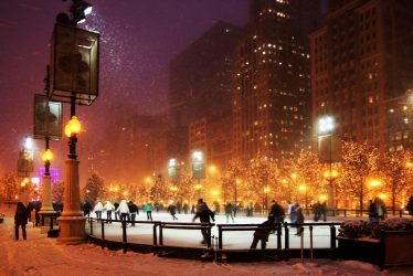 Celebrate the last few winter weekends at one of these ice rinks in Chicago.