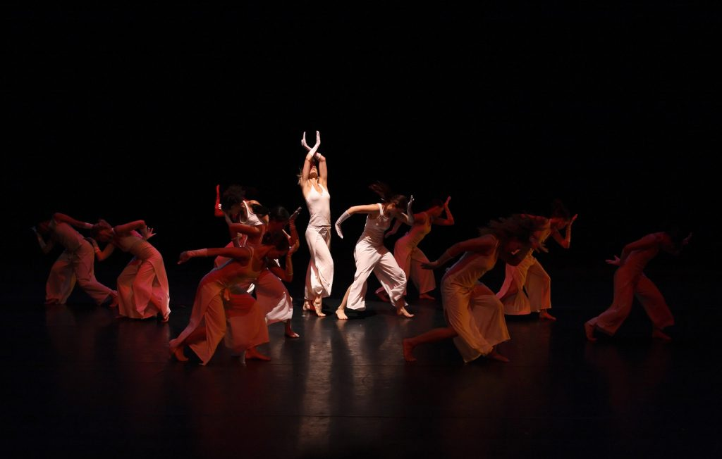 Contemporary dance and live theater performance.