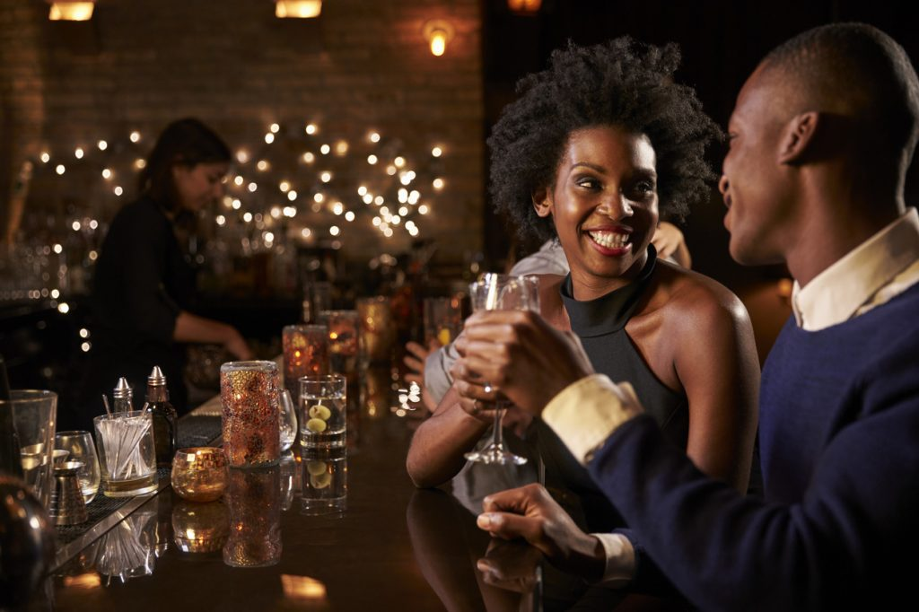 couple enjoying the night out at speakeasies in Chicago